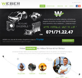 Weber Recycling site internet