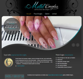 Mettet ongles pose nail art